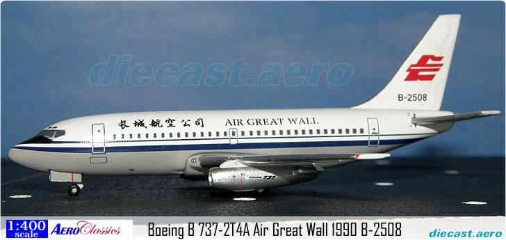 Boeing B 737-2T4A Air Great Wall 1990 B-2508