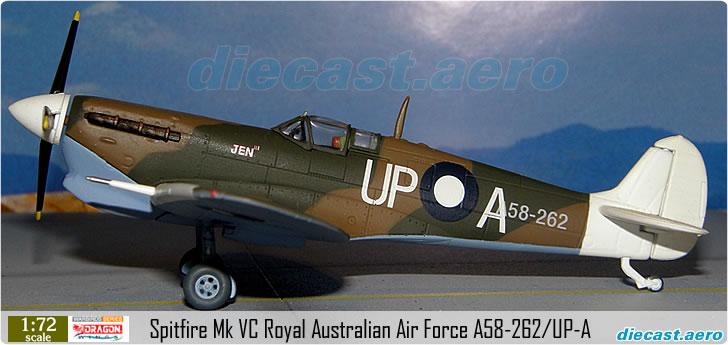 Spitfire Mk VC Royal Australian Air Force A58-262/UP-A