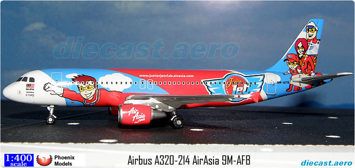 Airbus A320-214 AirAsia  Junior Club 9M-AFB