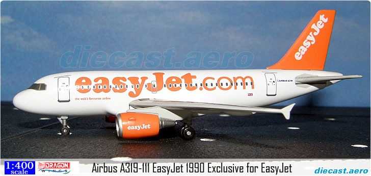 Airbus A319-111 EasyJet 1990 Exclusive for EasyJet