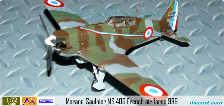 Easy Model 36327 French Air Force WW2 Fighter France Morane-Saulnier M.S.406