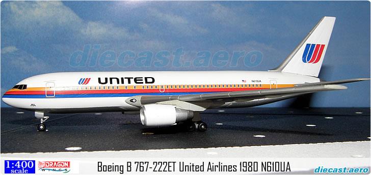 Boeing B 767-222ET United Airlines 1980 N610UA