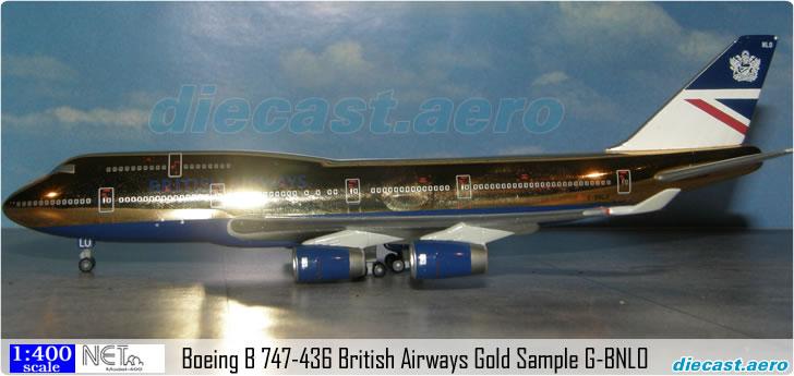Boeing B 747-436 British Airways Gold Sample G-BNLO