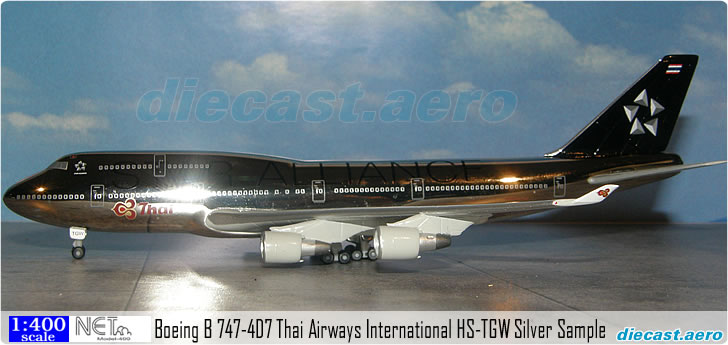 Boeing B 747-4D7 Thai Airways International HS-TGW Silver Sample