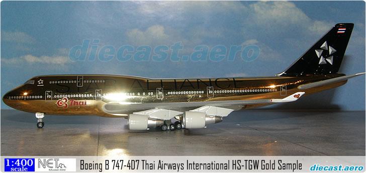 Boeing B 747-4D7 Thai Airways International HS-TGW Gold Sample