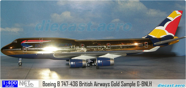 Boeing B 747-436 British Airways Gold Sample G-BNLH