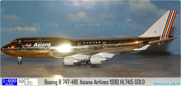 Boeing B 747-48E Asiana Airlines 1990 HL7415 GOLD