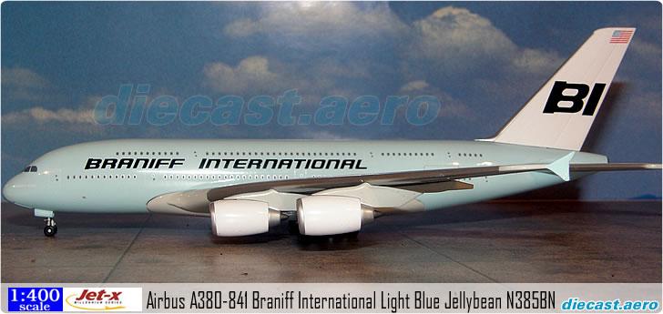"JET-X BRANIFF INTERNATIONAL /""YELLOW/"" A380 1:400 SCALE DIECAST MODEL JXM126"