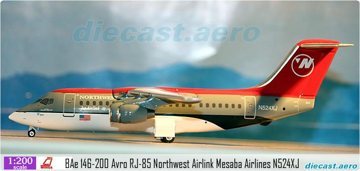 BAe 146-200 Avro RJ-85 Northwest Airlink Mesaba Airlines N524XJ