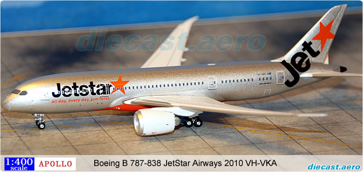 Boeing B 787-838 JetStar Airways 2010 VH-VKA
