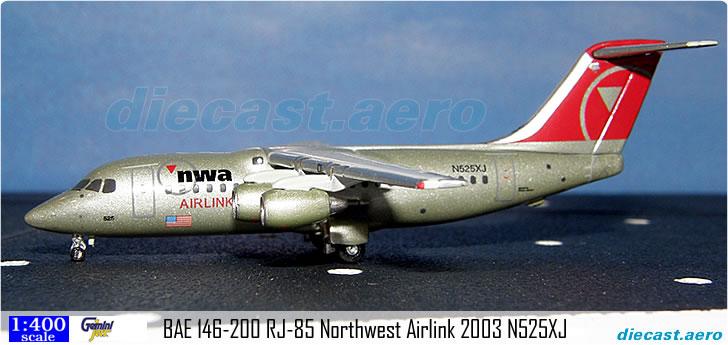 BAE 146-200 RJ-85 Northwest Airlink 2003 N525XJ