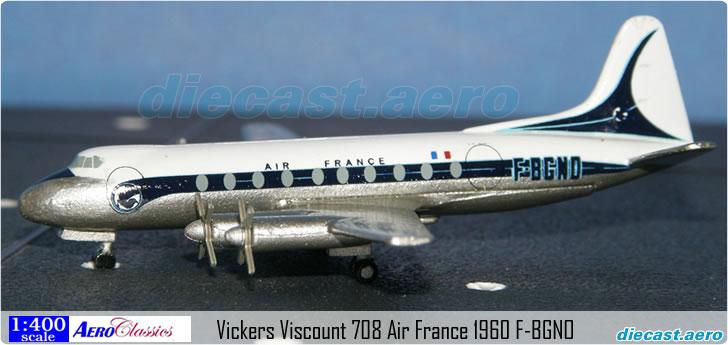 Vickers Viscount 708 Air France 1960 F-BGNO