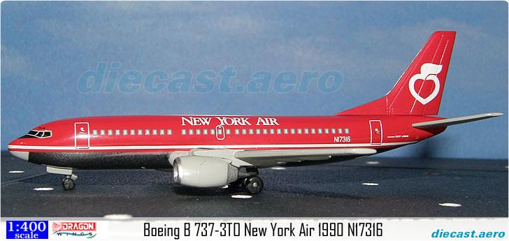 Boeing B 737-3TO New York Air 1990 N17316