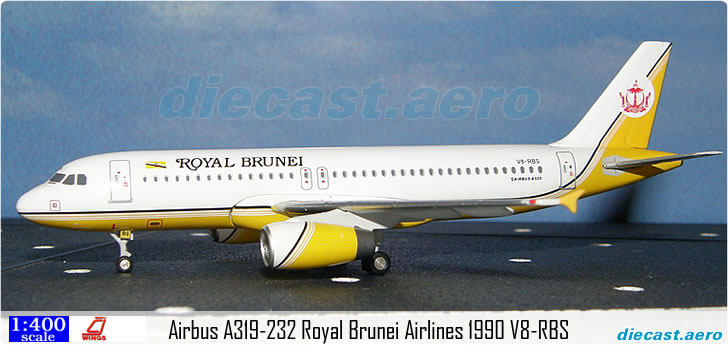 Airbus A319-232 Royal Brunei Airlines 1990 V8-RBS