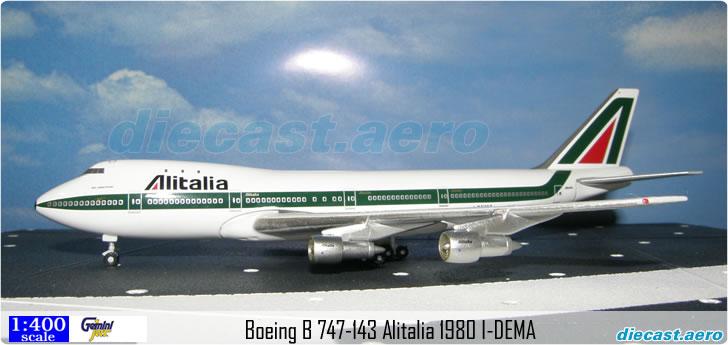 Boeing B 747-143 Alitalia 1980 I-DEMA