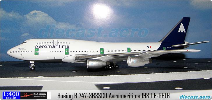 Boeing B 747-3B3SCD Aeromaritime 1980 F-GETB