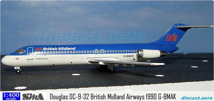 Douglas DC-9-32 British Midland Airways 1990 G-BMAK