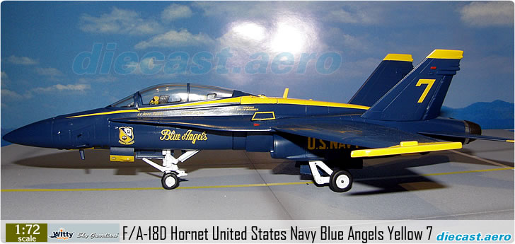 F/A-18D Hornet United States Navy Blue Angels Yellow 7